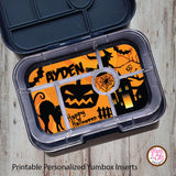 Yumbox Personalized Laminated Inserts - Halloween - Max & Otis Designs
