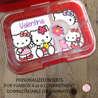 Yumbox Personalized Laminated Inserts - Hello Kitty