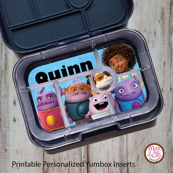 Yumbox Personalized Laminated Inserts - Home - Max & Otis Designs