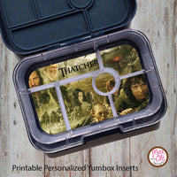Yumbox Personalized Laminated Inserts - Lord of the Rings - Max & Otis Designs