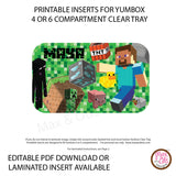 Yumbox Personalized Laminated Inserts - Minecraft
