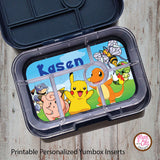Yumbox Personalized Laminated Inserts - Pokemon - Max & Otis Designs
