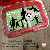 Yumbox Personalized Laminated Inserts - Soccer - Max & Otis Designs