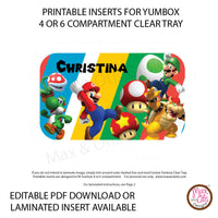 Yumbox Personalized Laminated Inserts - Super Mario Bros. - Max & Otis Designs