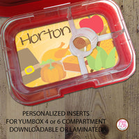 Yumbox Personalized Laminated Inserts - Thanksgiving - Max & Otis Designs