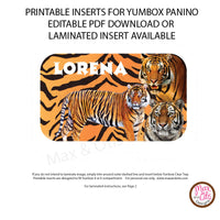 Yumbox Personalized Laminated Inserts - Tigers - Max & Otis Designs