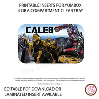 Yumbox Personalized Laminated Inserts - Transformers - Max & Otis Designs
