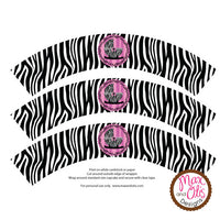 Printable Cupcake Wrappers - Baby Shower Zebra Print - Max & Otis Designs