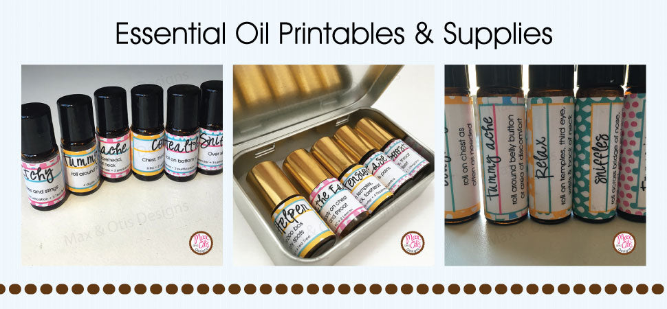 Essential Oil Printables & Supplies