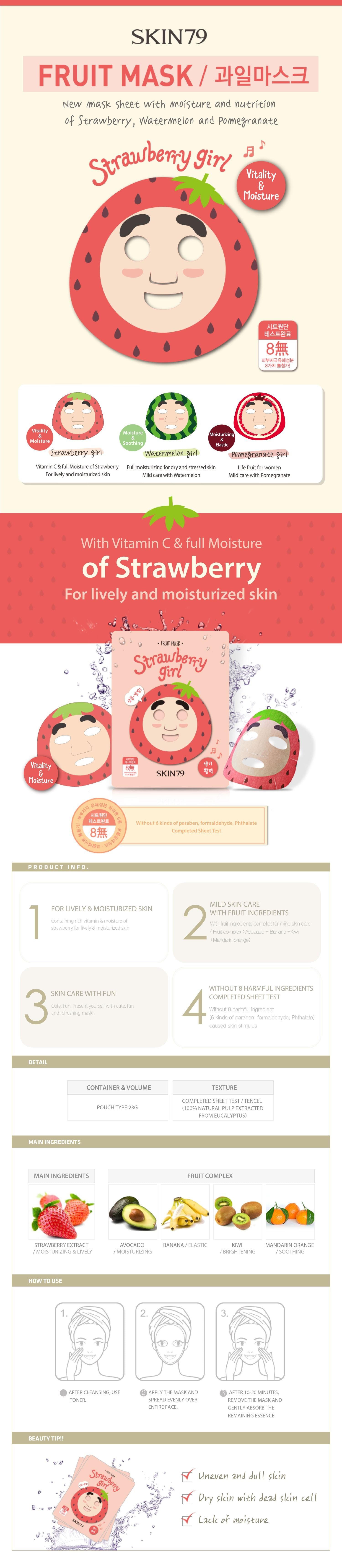 Skin79 Fruit Mask Strawberry Girl