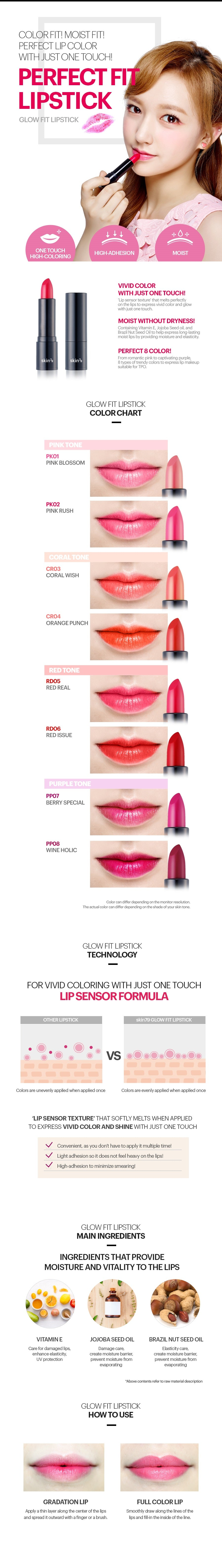 SKIN79 Glow Fit Lipstick RD05 Red Real