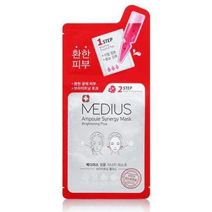 Medius 2 Step Ampoule Synergy Mask Brightening Plus 33mL