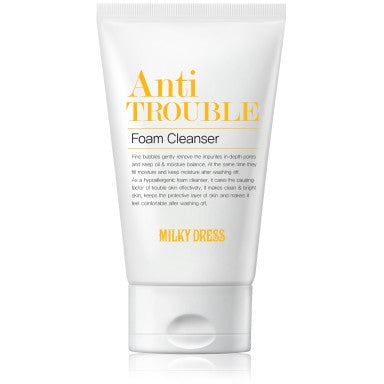 MILKY DRESS Anti Trouble Foam Cleanser(100Ml)