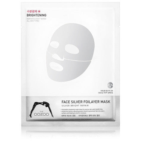 THE OOZOO Face silver foilayer mask