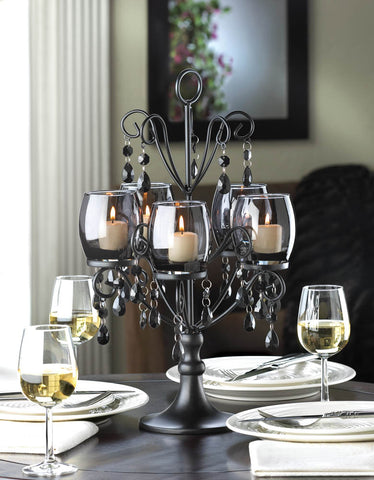 Midnight Elegance Candelabra - Distinctive Merchandise