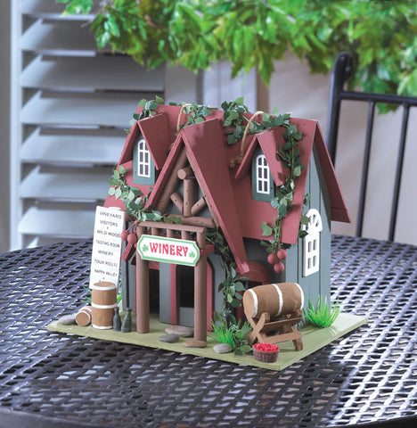 COTTAGE WINERY BIRDHOUSE - Distinctive Merchandise