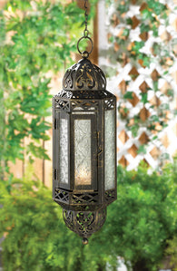 VICTORIAN HANGING CANDLE LANTERN - Distinctive Merchandise