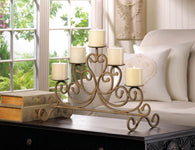 Antiqued Iron 5-Candle Stand - Distinctive Merchandise