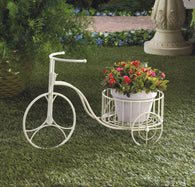 White Tricycle Plant Display - Distinctive Merchandise