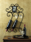 SCROLLWORK WALL WINE RACK