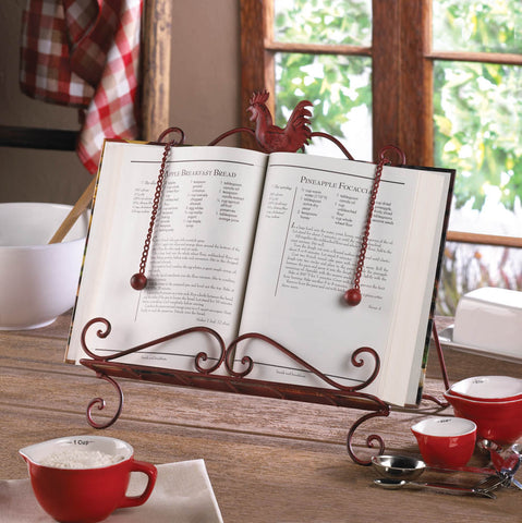 Red Rooster Cookbook Stand - Distinctive Merchandise