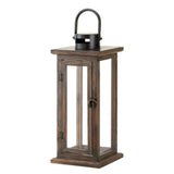 Lodge Wooden Lantern - Distinctive Merchandise