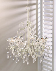Crystal Blooms Candle Chandelier - Distinctive Merchandise