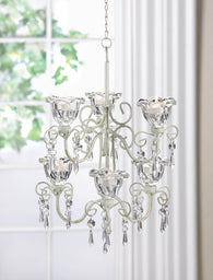Crystal Blooms Double Chandelier - Distinctive Merchandise