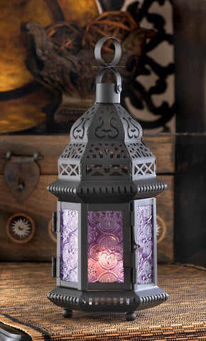 Purple Moroccan Style Lantern - Distinctive Merchandise