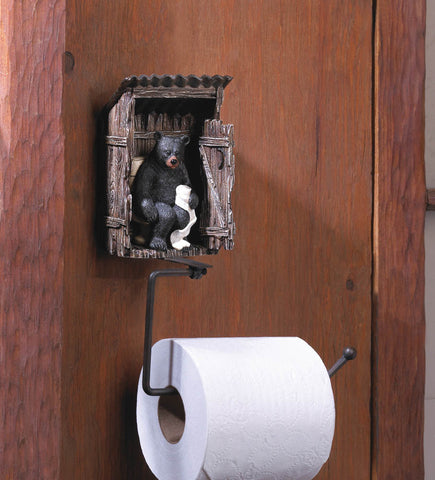 BEAR OUTHOUSE TOILET PAPER HOLDER - Distinctive Merchandise