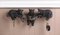Black Bear Trio Hooks Wall Plaque - Distinctive Merchandise