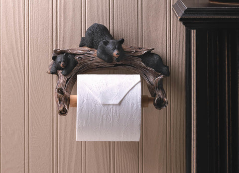 Black Bear Toilet Paper Holder - Distinctive Merchandise