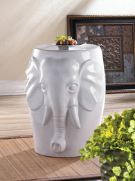 ELEPHANT CERAMIC DECORATIVE STOOL