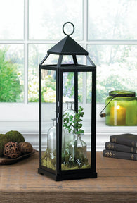 Extra Tall Black Contemporary Lantern - Distinctive Merchandise