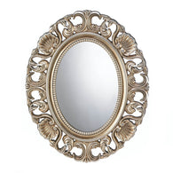Gilded Oval Wall Mirror - Distinctive Merchandise
