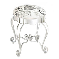 PRETTY IN PARIS METAL STOOL - Distinctive Merchandise