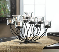 Iron Bloom Candle Centerpiece - Distinctive Merchandise
