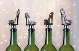 Black Peep Toe Shoe Wine Stopper