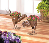 Pecking Rooster Planter - Distinctive Merchandise