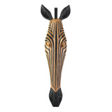 TRIBAL ZEBRA WALL PLAQUE