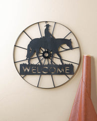 Cowboy Welcome Wheel Sign - Distinctive Merchandise