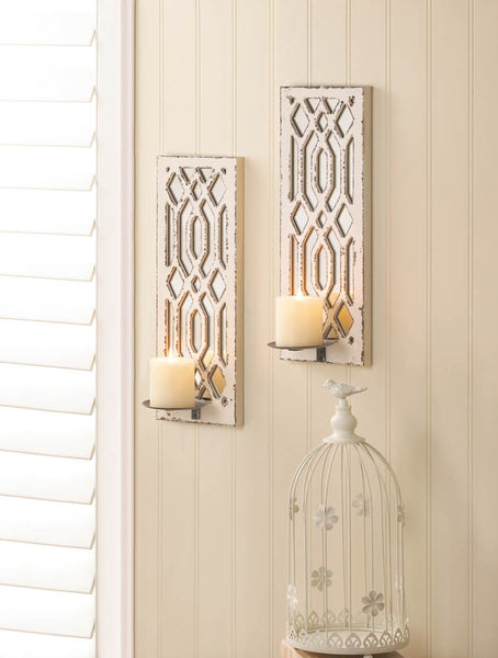 Deco Mirror Wall Sconce Set - Distinctive Merchandise
