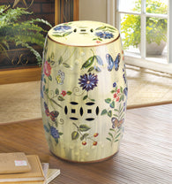 Butterfly Garden Ceramic Stool - Distinctive Merchandise