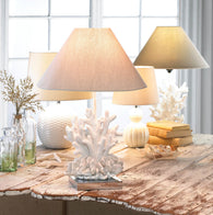 White Coral Lamp - Distinctive Merchandise