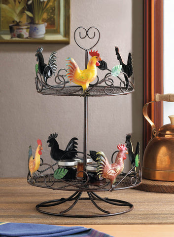Rooster 2-Tier Countertop Rack - Distinctive Merchandise