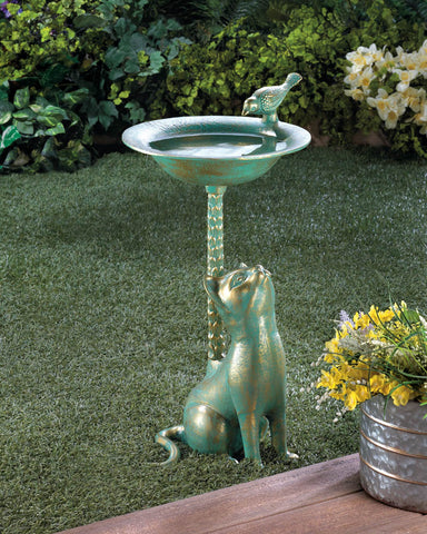 Cat Birdbath - Distinctive Merchandise