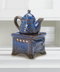 Blue Teapot Stove Oil Warmer - Distinctive Merchandise