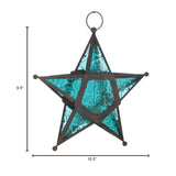 Blue Glass Star Lantern - Distinctive Merchandise
