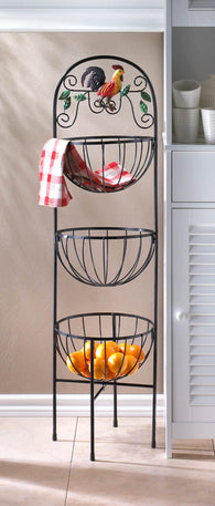 Rooster 3-Tier Kitchen Basket - Distinctive Merchandise