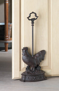 Rooster Door Stopper With Handle - Distinctive Merchandise